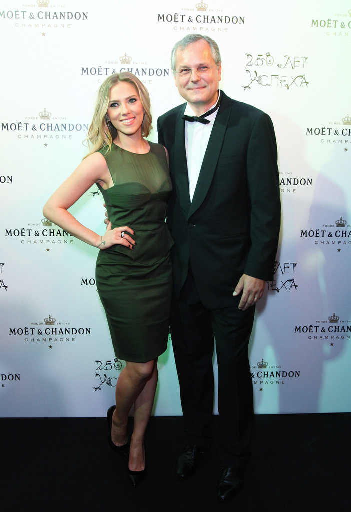 Scarlett Johansson hit the red carpet for Moët & Chandon's anniversary in Moscow.