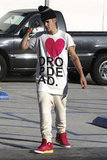 Justin and Selena Wear Their Hearts on Their Shirts During a Day Date