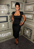Halle Berry showed off her curves in a black dress.