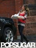 Gisele Bündchen walked to her car in Boston.