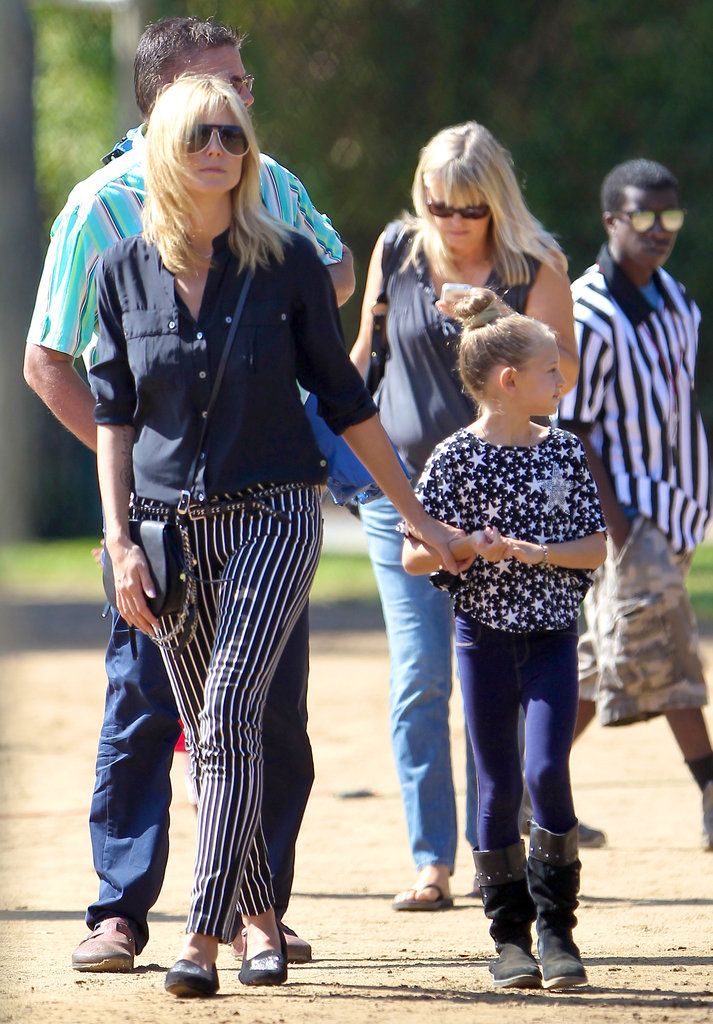 Heidi Klum Hits the Football Field With Henry, Leni, and Birthday Girl Lou