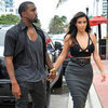 Kim Kardashian in a Black Halter with Kanye West | Pictures