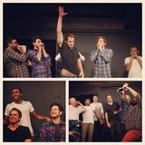 Ben Schwartz shared a few shots from his show at the Upright Citizens Brigade with Michael C. Hall, Horatio Sanz, and Donald Glover. Source: Instagram user rejectedjokes