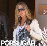 Jennifer Aniston wore her engagement ring from Justin Theroux.