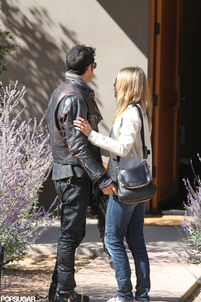 Jennifer Aniston's engagement ring was on display during a trip to Santa Fe with Justin Theroux.