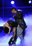 Usher gave a steamy performance with a female dancer onstage at the Latin Grammy Awards in November 2011.