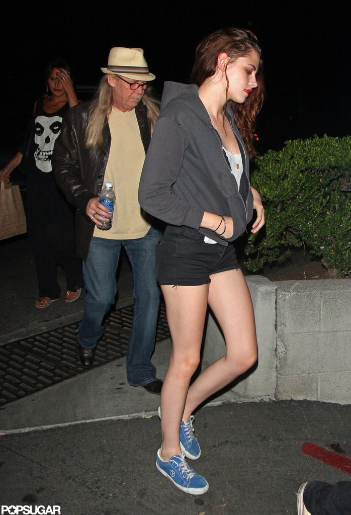 Kristen Stewart's legs were in display in short cutoff shorts for a Florence and the Machine concert in LA.