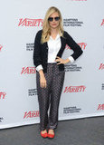 Sienna Miller posed in a pair of printed pants at the Hamptons International Film Festival.