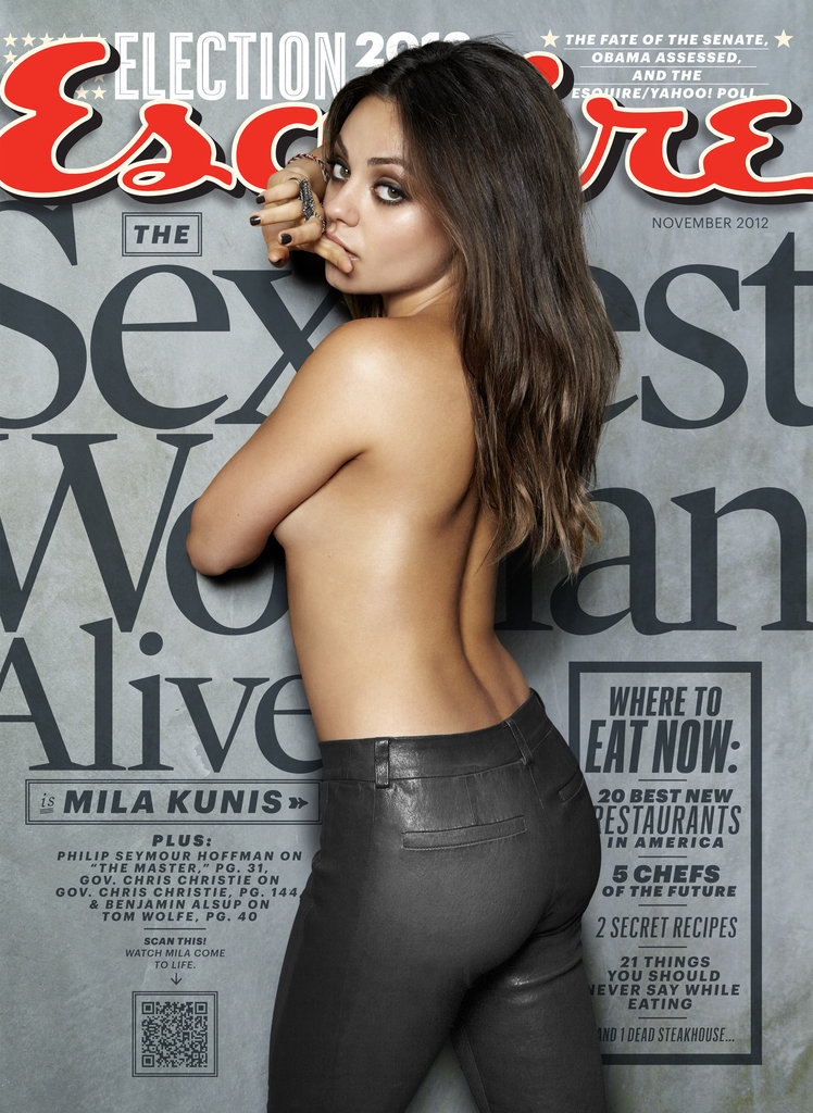 Mila Kunis covers Esquire's Sexiest Woman Alive 2012 issue.
