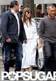 Jessica Biel arrived at a photo shoot in Paris.