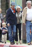 Matthew and Kay McConaughey walked arm in arm leaving church.