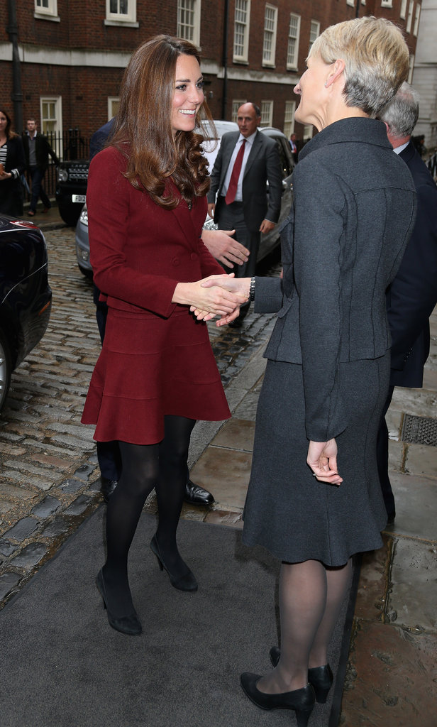 Kate Middleton shook hands as she arrived at Middle Temple.