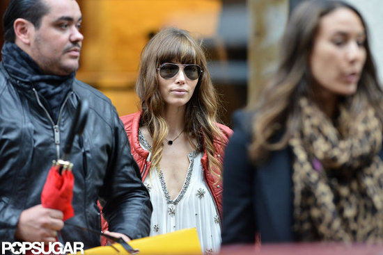 Jessica Biel shopped at Fendi in Paris.