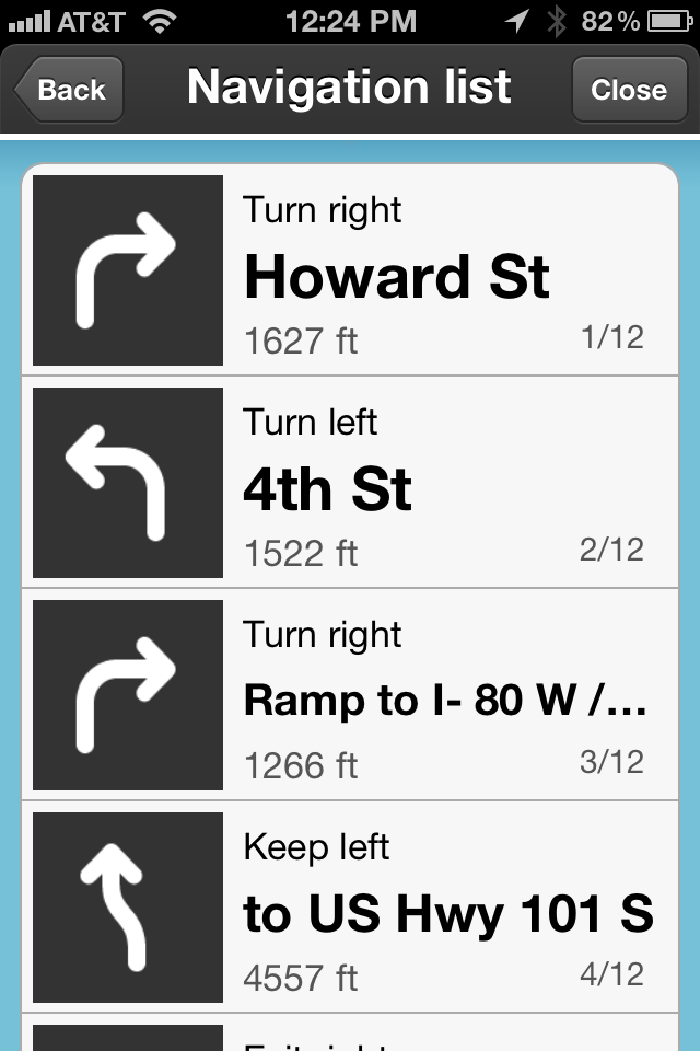 Turn by Turn Navigation
