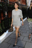 Alexa Chung outfitted a charming casual look, complete with a pair of Valentino t-strap flats. 8809753