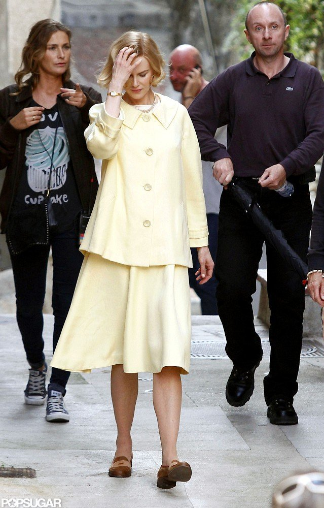 Nicole Kidman was dressed as Grace Kelly for her new film, Grace of Monaco.