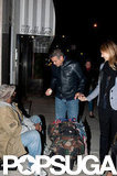 George Clooney gave money to a homeless man while out in NYC.