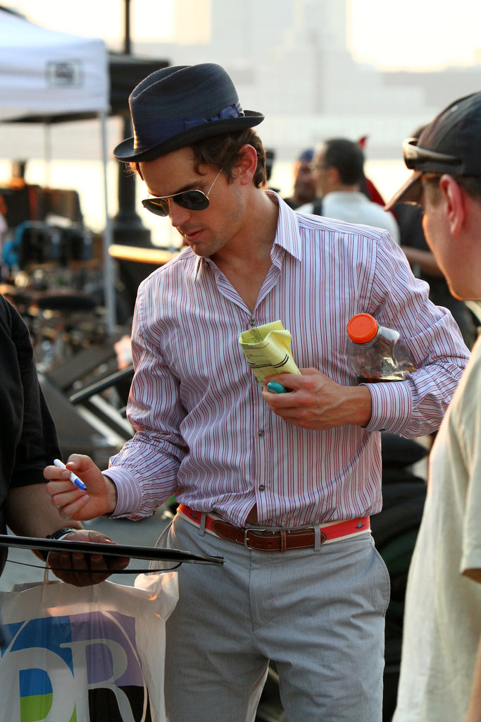 Matt Bomer stopped to sign autographs for NYC fans in September 2010.