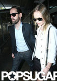 Kate Bosworth and Michael Polish walked through the airport in Sydney.