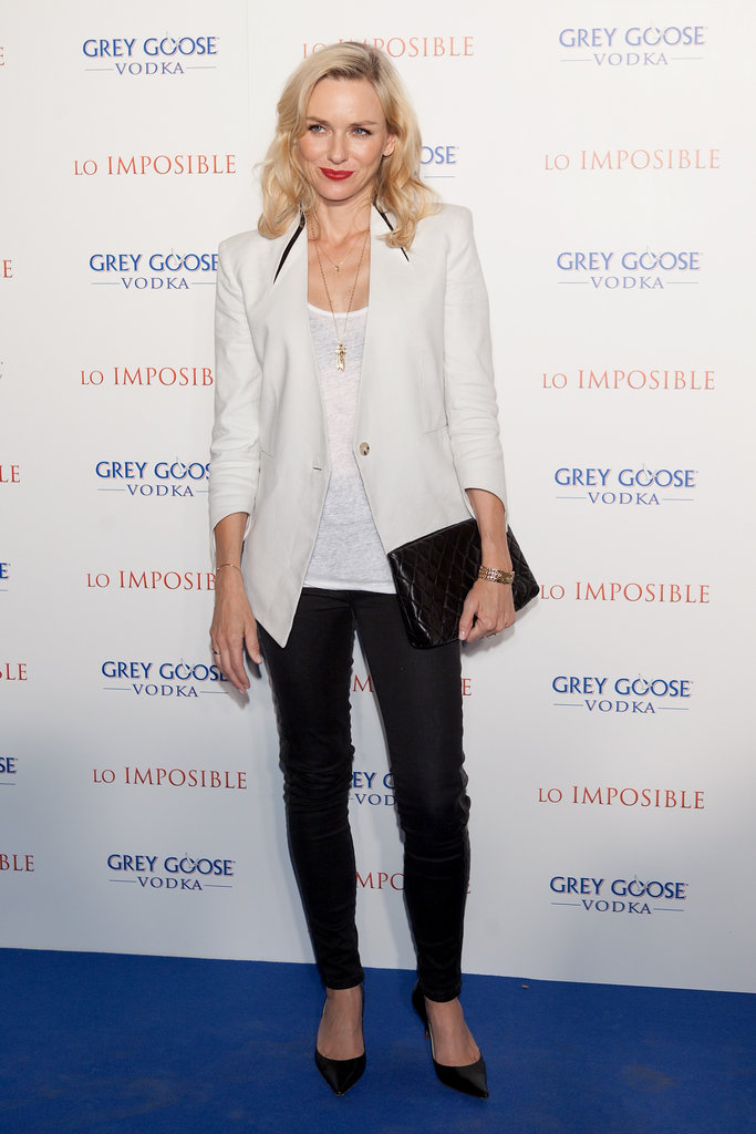 Naomi Watts changed into a more casual look for the afterparty.