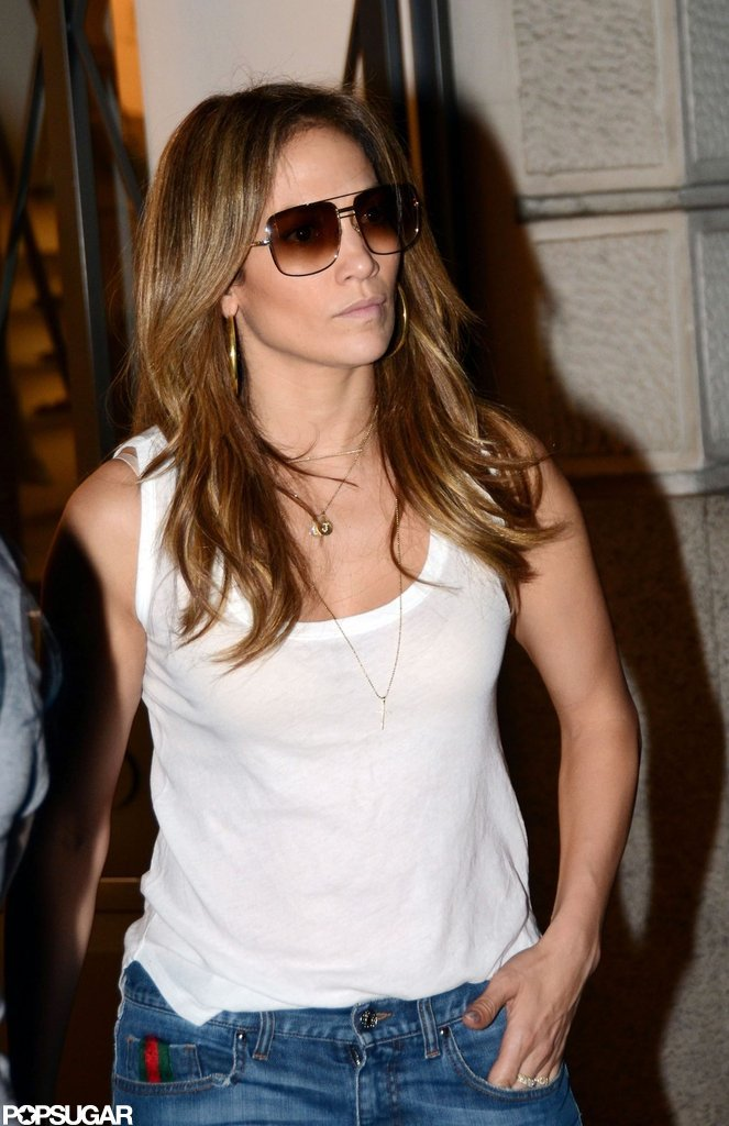 J Lo stepped out in Spain.