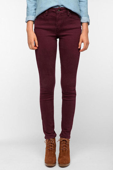 Oxblood is the color of the season, and these Levi's Demi Curve Skinny Jeans ($78) are ideal for pairing with chambray shirts and chunky knit sweaters.