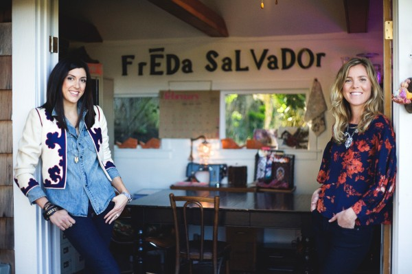 The ladies behind Freda Salvador: Cristina Palomo Nelson and Megan Papay.