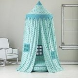 Kids Canopy: Teal Polka Dot Play Circus Tent