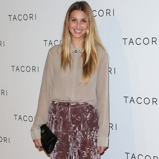 Whitney Port Wearing Crushed Velvet Pants