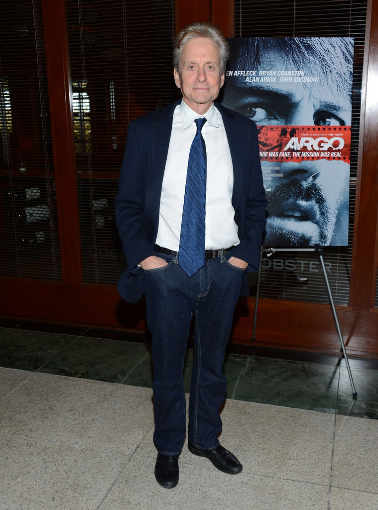 Michael Douglas attended the NYC premiere of Argo.