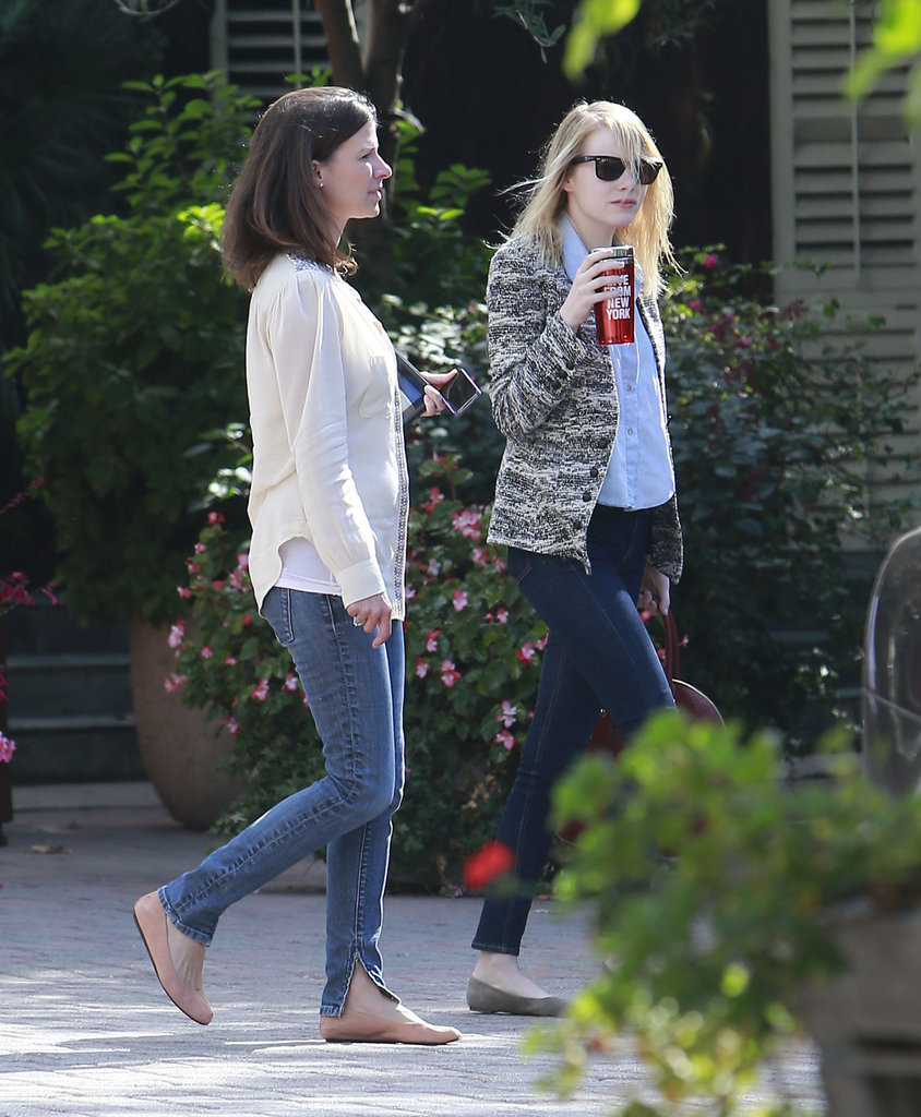 Emma Stone headed out to a movie studio in LA.