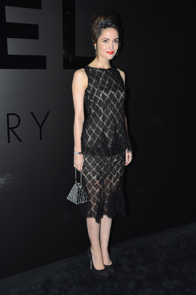 Rose Byrne attended Chanel's fine jewelry party in NYC.