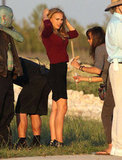Natalie Portman took part in filming her latest project in Texas.