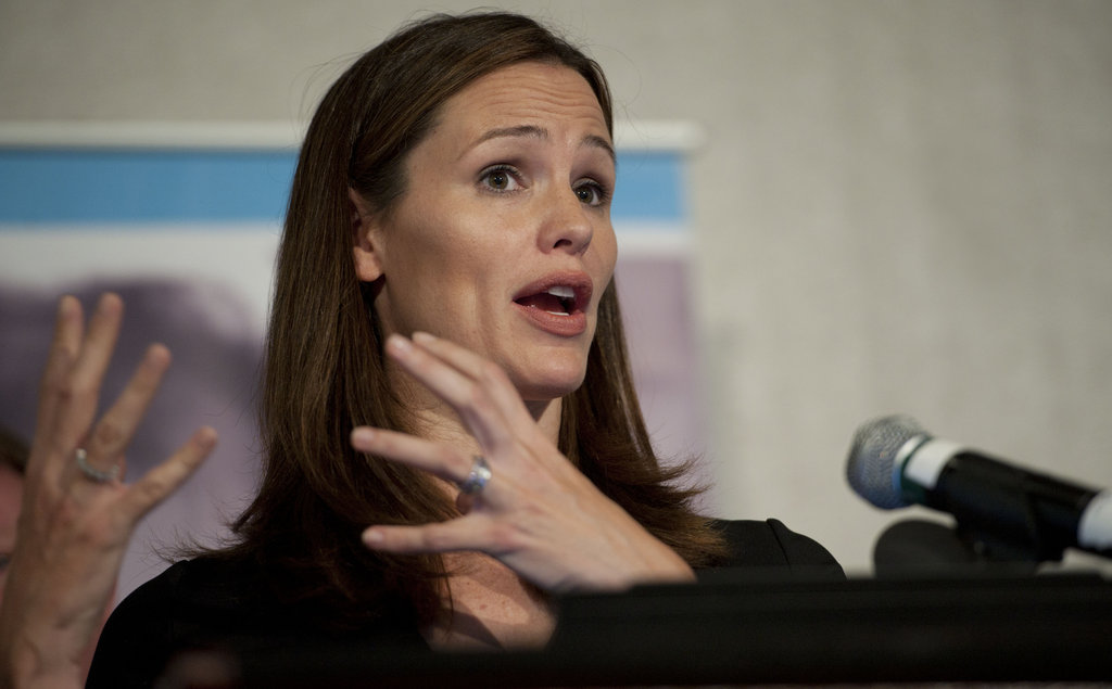Jennifer Garner spoke in Washington DC.