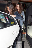 Penélope Cruz had dinner with Javier Bardem and family members in Madrid.