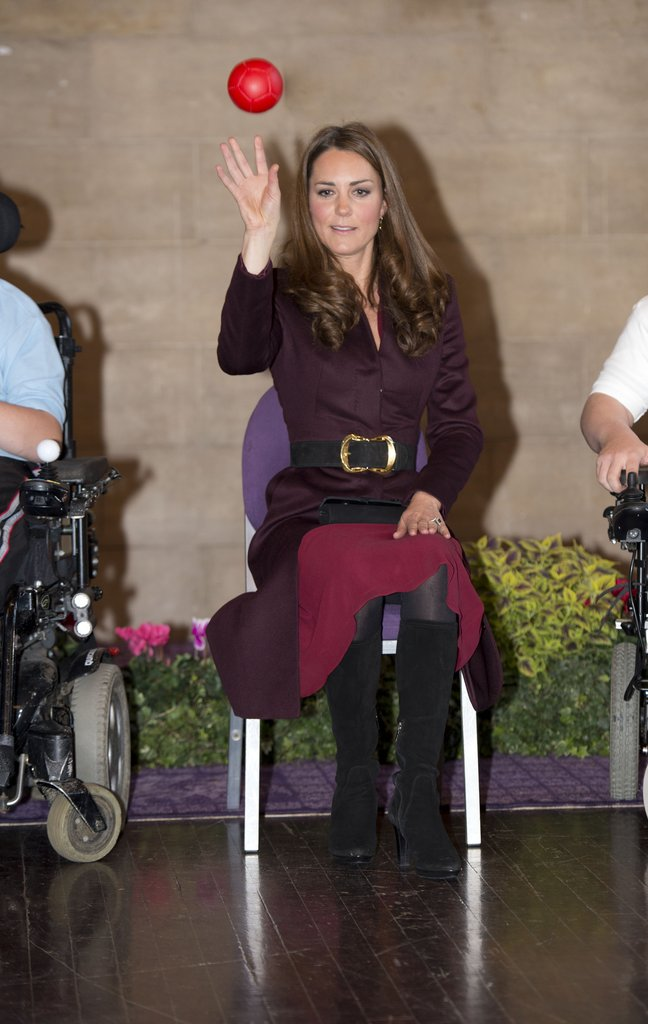 Kate Middleton took part in an exercise at the Newcastle Civic Centre.