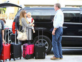 Guy Ritchie and his family arrived at LAX.