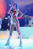 Katy Perry turned heads on stage in Indianapolis, IN, at the DirecTV Super Saturday Night in February 2012.