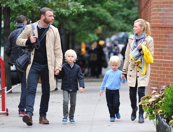 Naomi Watts and Liev Schreiber spent time with their sons in NYC.