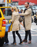 Naomi Watts and Liev Schreiber hopped into a taxi in NYC.