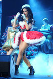 Katy Perry donned a sexy Santa Claus costume during the Y100 Jingle Ball in December 2011 in Sunrise, FL.
