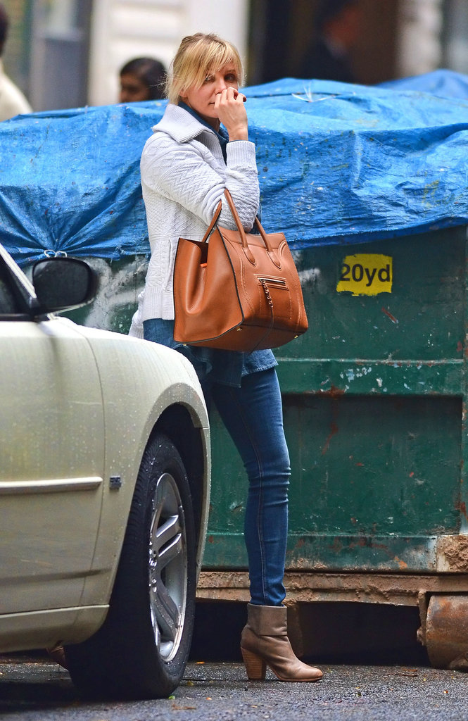 Cameron Diaz wore a sweater and jeans while out and about in NYC.