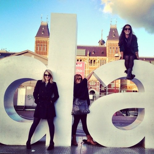 Dianna Agron took a trip to Amsterdam with friends. Source: Twitter user DiannaAgron