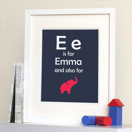 Initial and Name Wall Art Print