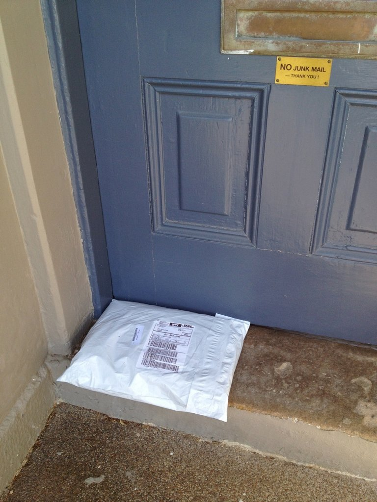 The only downside to online shopping— when your husband finds doorstep packages before you do. Busted.