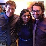 Mindy Kaling caught up with Mark and Jay Duplass. Source: Instagram user mindykaling