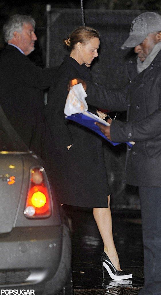 Stella McCartney arrived at Gwyneth Paltrow's London bash.