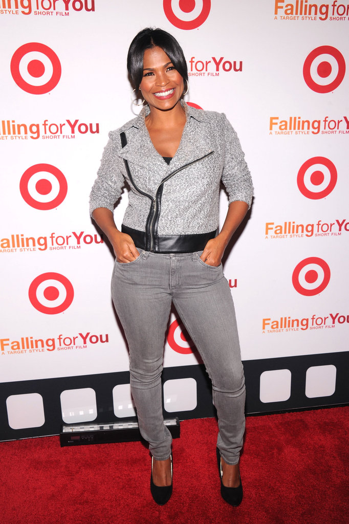 Nia Long struck a pose at the Target party in NYC.