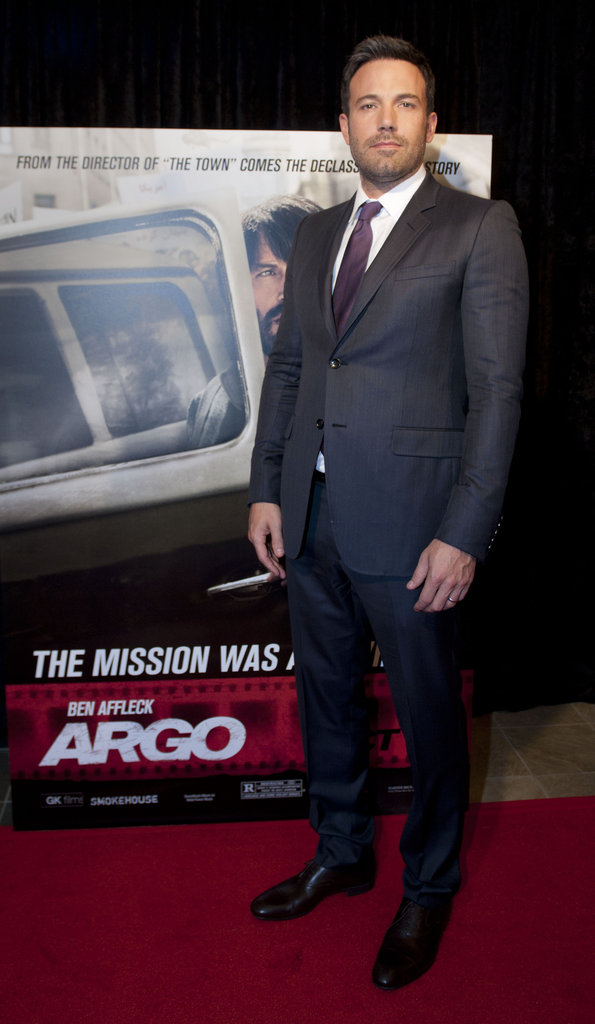 Ben Affleck stepped onto the red carpet at his Argo premiere in Washington DC.