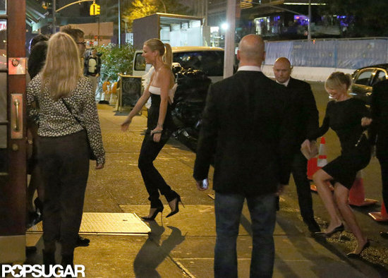 Gwyneth Paltrow and Cameron Diaz arrived at a restaurant in NYC.